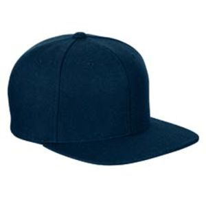 Adult 6-Panel Melton Wool Structured Flat Visor Classic Snapback Cap Thumbnail